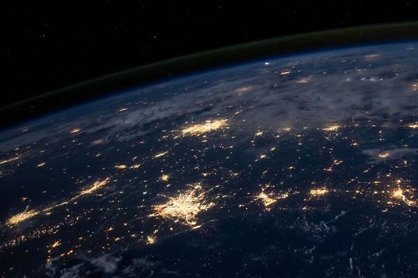 europe by night satellite view